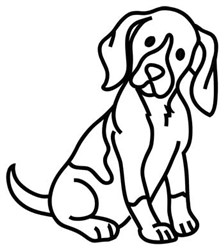Beagle Outline embroidery design