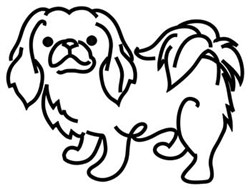 Pekingese Outline embroidery design