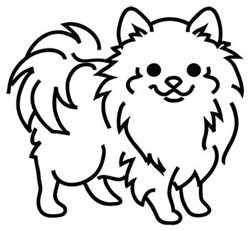 Pomeranian Outline embroidery design