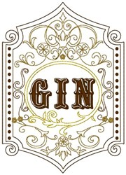 Gin embroidery design