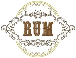 Rum embroidery design