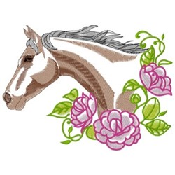 Thoroughbred Roses embroidery design