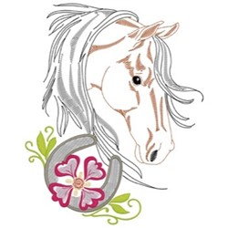 Thoroughbred Head embroidery design