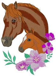 Mare & Filly embroidery design