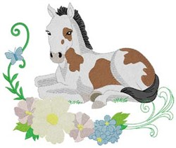 Filly & Flowers embroidery design