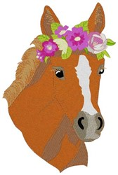 Filly Head embroidery design