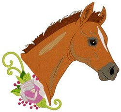 Foal Head embroidery design