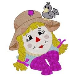 Girl Scarecrow embroidery design