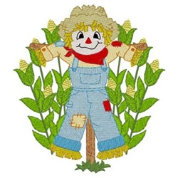 Scarecrow In Corn embroidery design