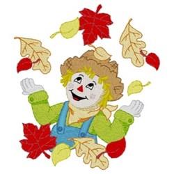 Scarecrow Fall Wreath embroidery design