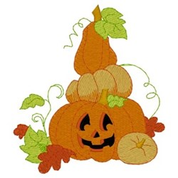 Pumpkin Pile embroidery design