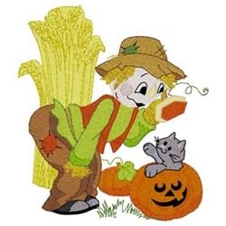 Scarecrow & Kitten embroidery design