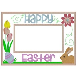 Easter Frame embroidery design