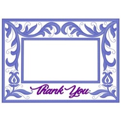 Thank You Frame embroidery design