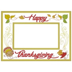 Happy Thanksgiving Frame embroidery design