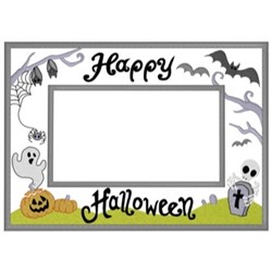 Halloween Frame embroidery design
