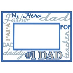 Fathers Day Frame embroidery design