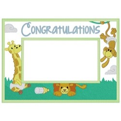 Baby Congratulations Frame embroidery design
