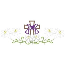 Cross & Lilies embroidery design