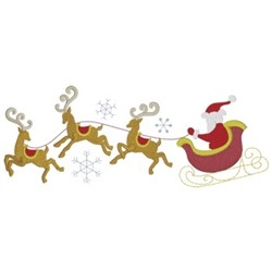 Flying Sleigh embroidery design