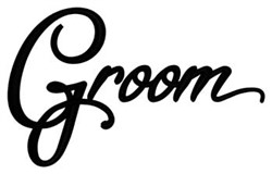 Groom embroidery design