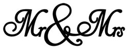 Mr. & Mrs. embroidery design