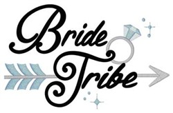 Bride Tribe embroidery design