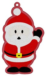 Santa Bookmark embroidery design