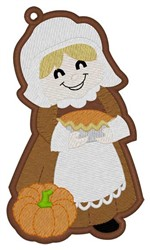 Pilgrim Girl Bookmark embroidery design