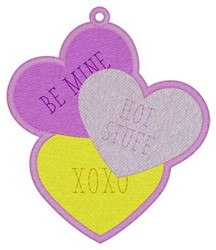 Conversation Hearts Bookmark embroidery design