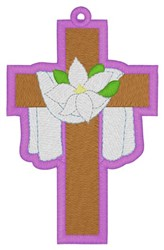 Easter Cross Bookmark embroidery design