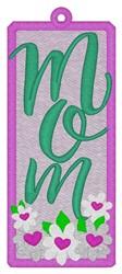 Mom Bookmark embroidery design