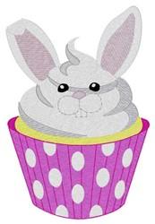 Bunny Cupcake embroidery design