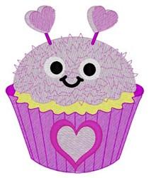 Love Bug Cupcake embroidery design
