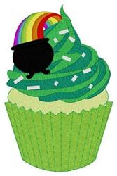 Pot-o-gold Cupcake embroidery design