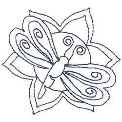 Dragonfly Outline embroidery design