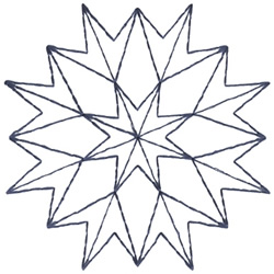 Kaleidoscope Outline embroidery design