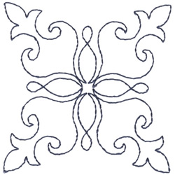 Fleur-de-lis Outline embroidery design