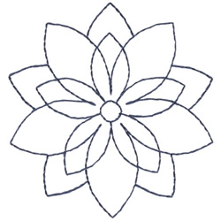 Poinsettia Oultine embroidery design