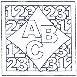 ABC & 123 Outline embroidery design