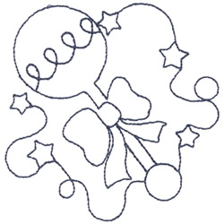 Baby Rattle Outline embroidery design