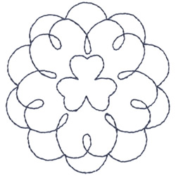 Clover Outline embroidery design
