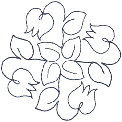 Spinning Tulip Outline embroidery design