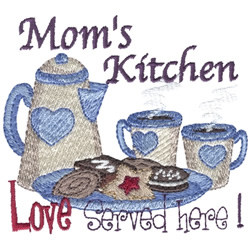 Mom Serves Love embroidery design