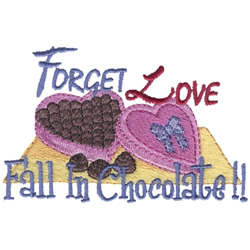 Heart of Chocolates embroidery design