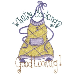 Whats Cooking? embroidery design