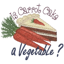 Carrot Cake embroidery design