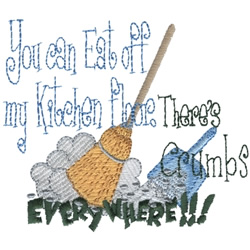 Eat Off My Floor embroidery design