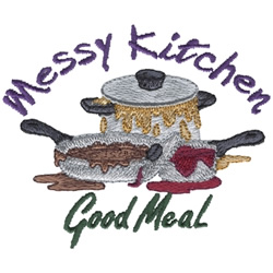 Messy Kitchen embroidery design