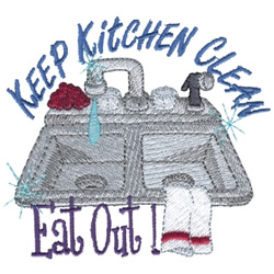 Keep Kitchen Clean embroidery design